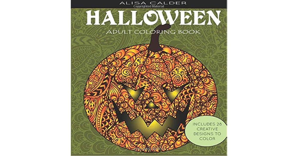 Halloween Adult Coloring Book By Alisa Calder