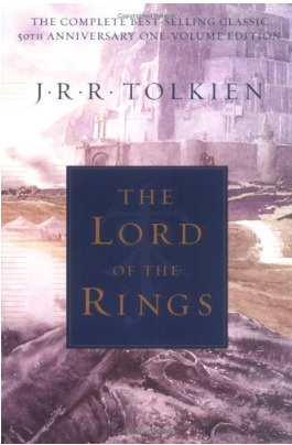 Book cover for The Lord of the Rings by J.R.R. Tolkein