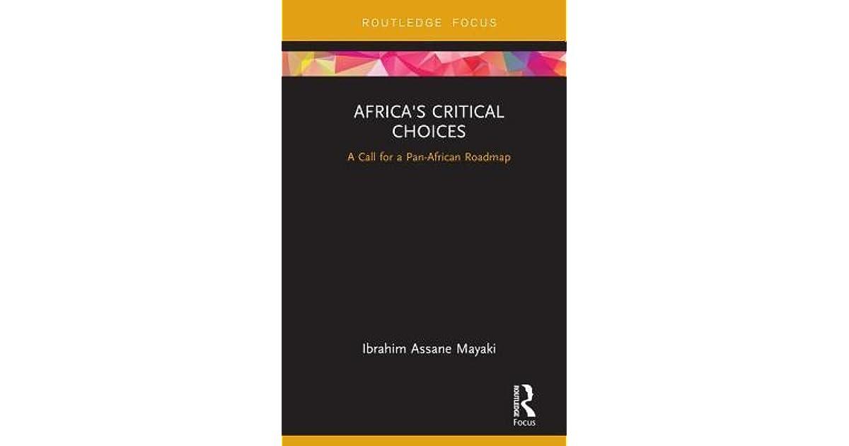Africa's Critical Choices: coming soon Ibrahim Mayaki