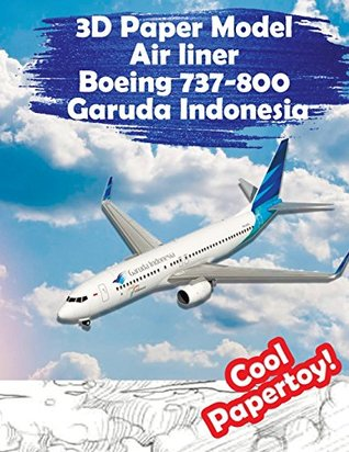 3D Paper Model Air liner Boeing 737-800 Garuda Indonesia: Gather Your Super Toy Airplane Simply and Interestingly: Volume 1