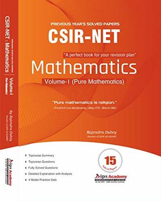 CSIR NET Mathematics Solution Book | Volume-1 (Pure