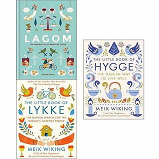 Lagom the swedish art of balanced living, little book of lykke, little book of hygge 3 books collection set
