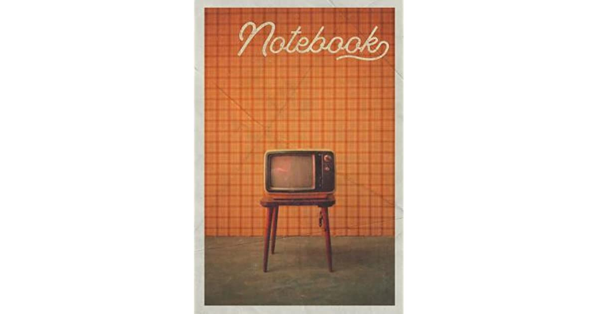 Notebook: 1970s TV Set Charming Composition Book Journal