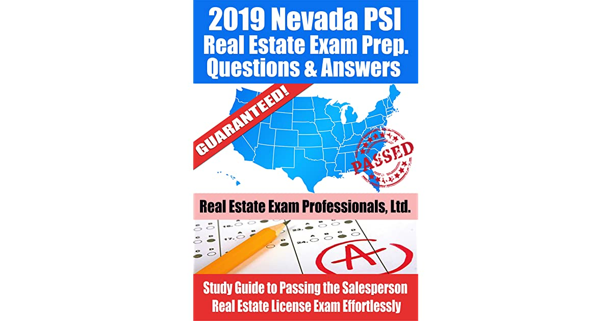 2019 Nevada PSI Real Estate Exam Prep Questions, Answers