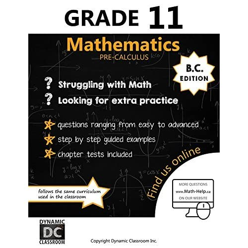 BC Edition Dynamic Math Workbook Complete Grade 9 Mathematics Curriculum