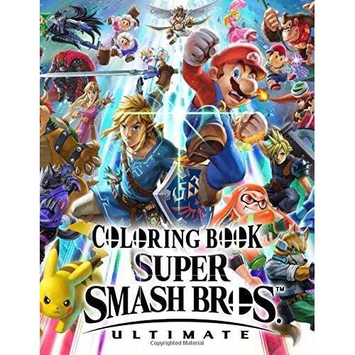 Super Smash Bros Ultimate Coloring Book By David Mizuno