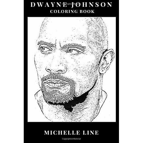 Dwayne Johnson Coloring Book Greatest Professional Wrestler