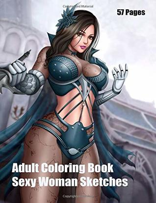 adult coloring book sexy woman