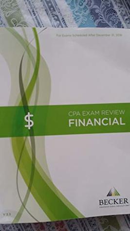 CPA Exam Review Financial - 2019 Becker Professional Education - v3.3