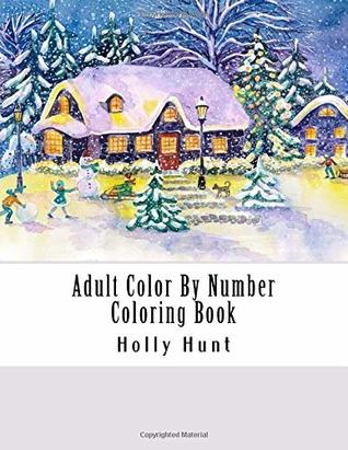 Adult Color By Number Coloring Book A Winter Season Festive