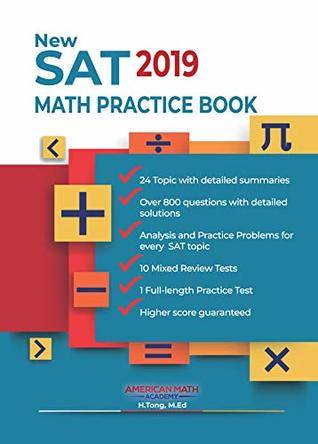 New SAT 2019 Math Practice Book: 24 SAT Math Topics+10 Mixed Review