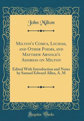 Miltons Comus Lycidas And Other Poems And Matthew