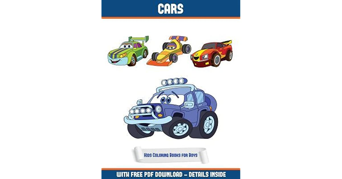 Kids Coloring Books For Boys Cars Coloring Book A Cars