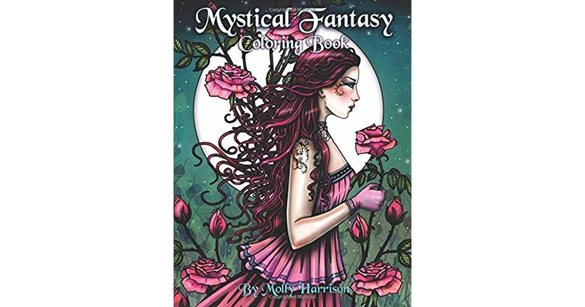 Mystical Fantasy Coloring Book: Coloring for Adults - Beautiful ...
