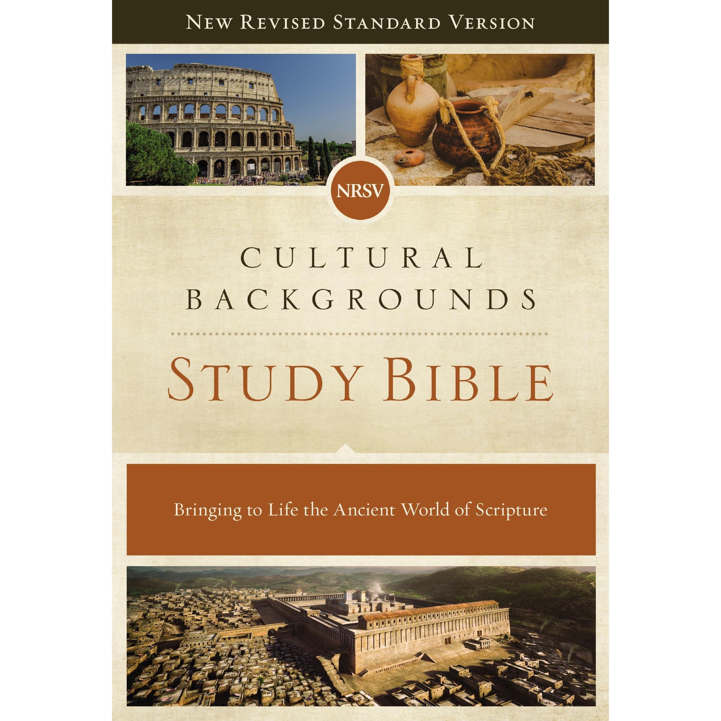 NRSV, Cultural Backgrounds Study Bible, Hardcover, Comfort