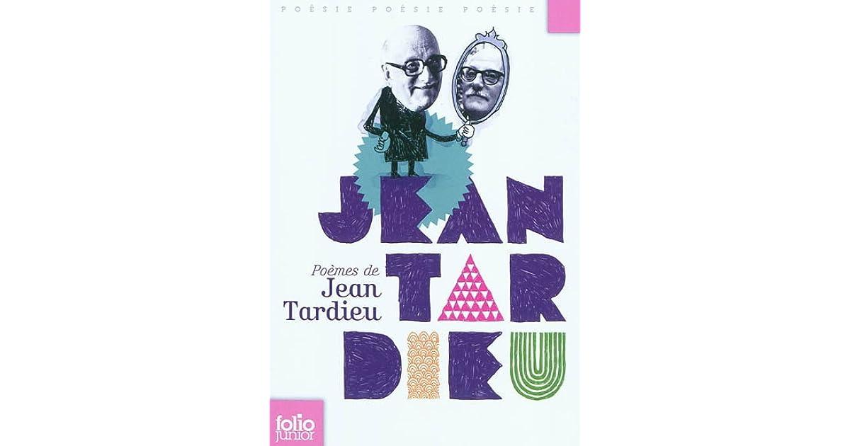 Poèmes De Jean Tardieu By Jean Tardieu