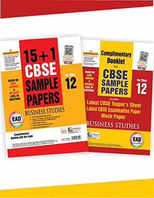 EAD 15+1 cbse sample papers for class 12 Business Studies for 2019 examination