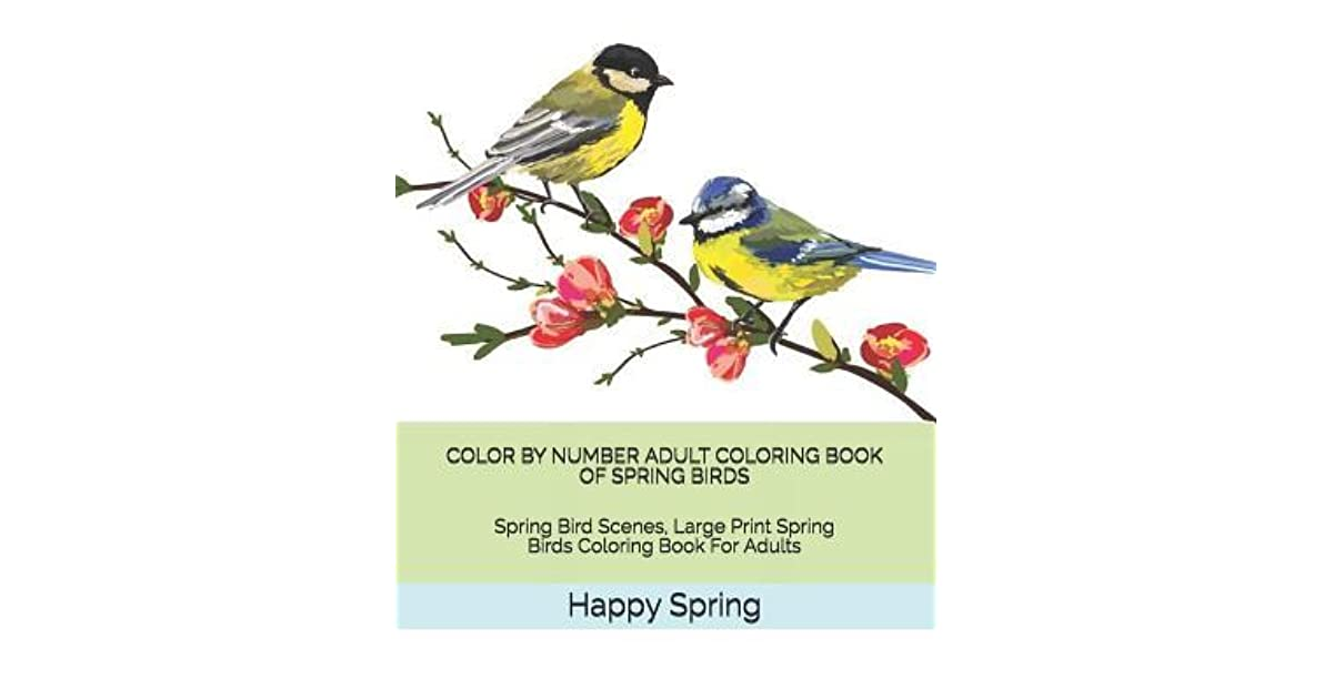 Color By Number Adult Coloring Book Of Spring Birds Spring