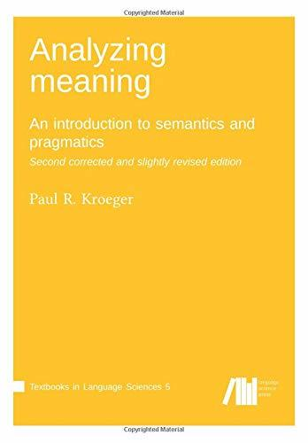 Analyzing meaning- An introduction