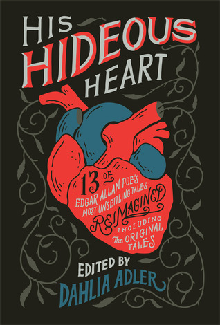 "Book cover of ""His Hideous Heart"" edited by Dahlia Adler"