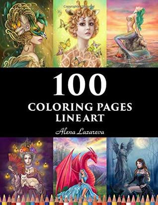 100 Coloring Pages Line Art Alena Lazareva Coloring Book