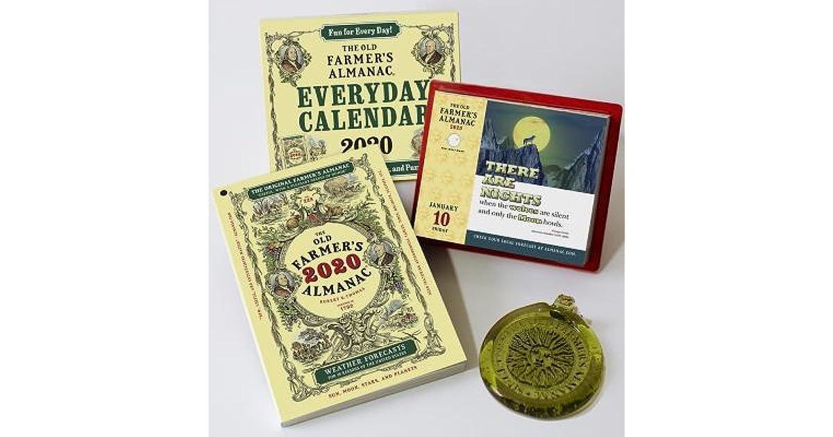 Coin Show Calendar 2020.The Old Farmer S Almanac 2020 Everyday Box Calendar 2020 Sun
