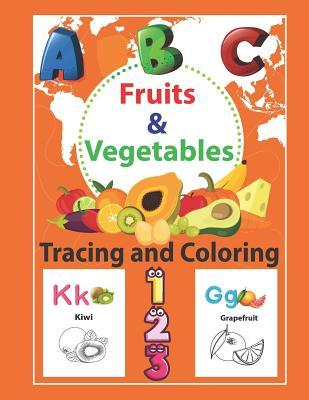 Fruits Vegetables Tracing And Coloring Preschool Tracing And