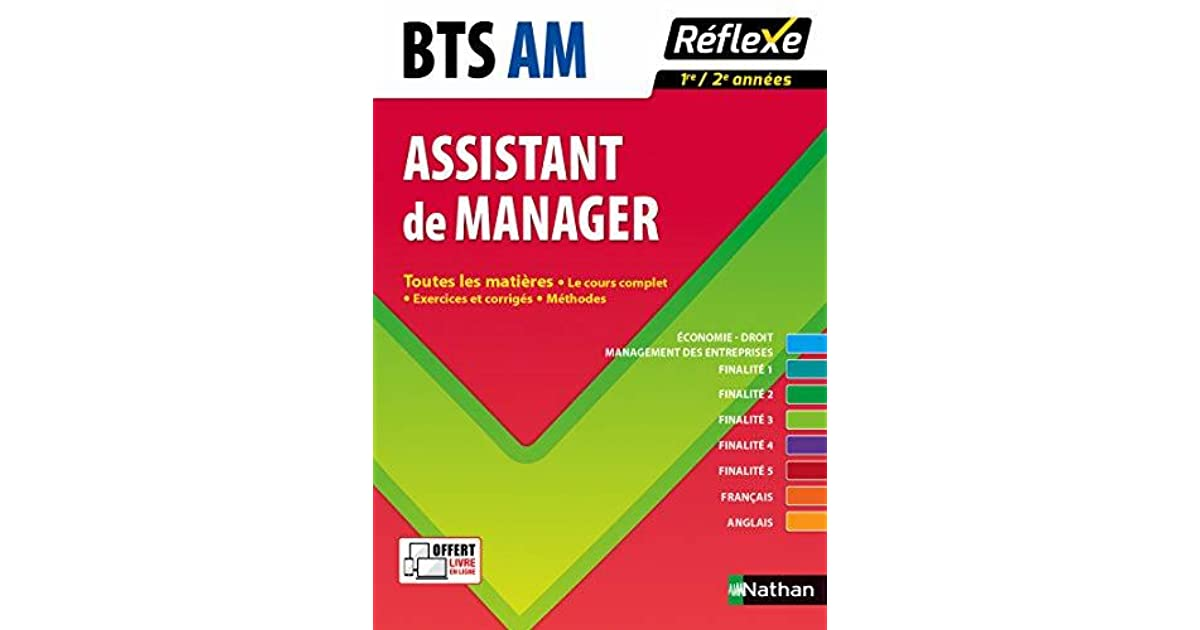 Bts Am Assistant Manager 1ere 2e Annees By Pascal Besson