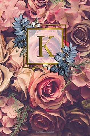 K: Nifty Initial Monogram Letter K College Ruled Notebook