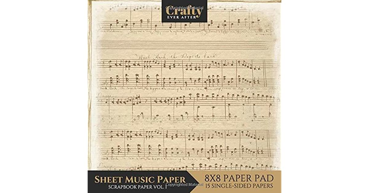 photo regarding Printable Sheet Music for Crafts titled Sheet Audio Paper Sbook Paper: Typical Audio Print