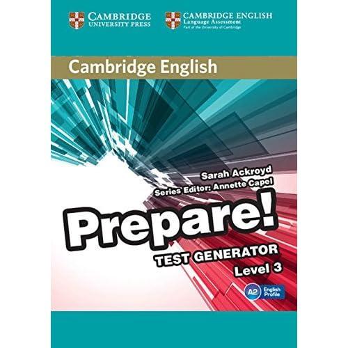 Cambridge English Prepare! Test Generator Level 3 CD-ROM by