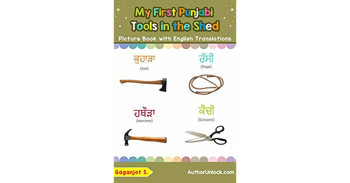 My First Punjabi Tools in the Shed Picture Book with English