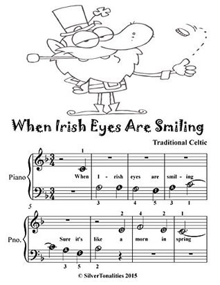 When Irish Eyes Are Smiling Beginner Piano Sheet Music