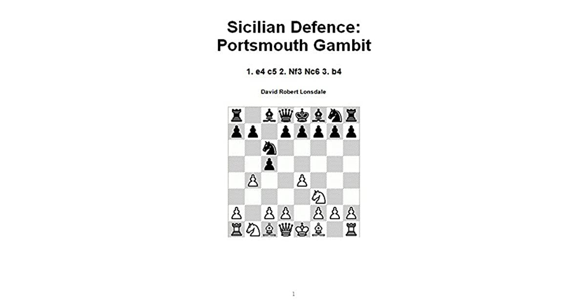 Sicilian Defence: Portsmouth Gambit: 1  e4 c5 2  Nf3 Nc6 3  b4 by