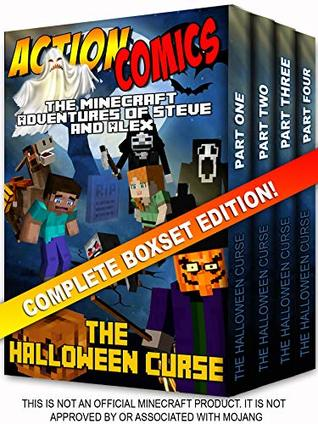 Action Comics Boxset: The Minecraft Adventures of Steve and Alex: The Halloween Curse - Complete Boxset Edition (Parts 1, 2, 3 &4) (Minecraft Steve and Alex Adventures)