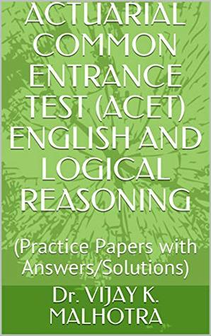 ACTUARIAL COMMON ENTRANCE TEST (ACET) ENGLISH AND