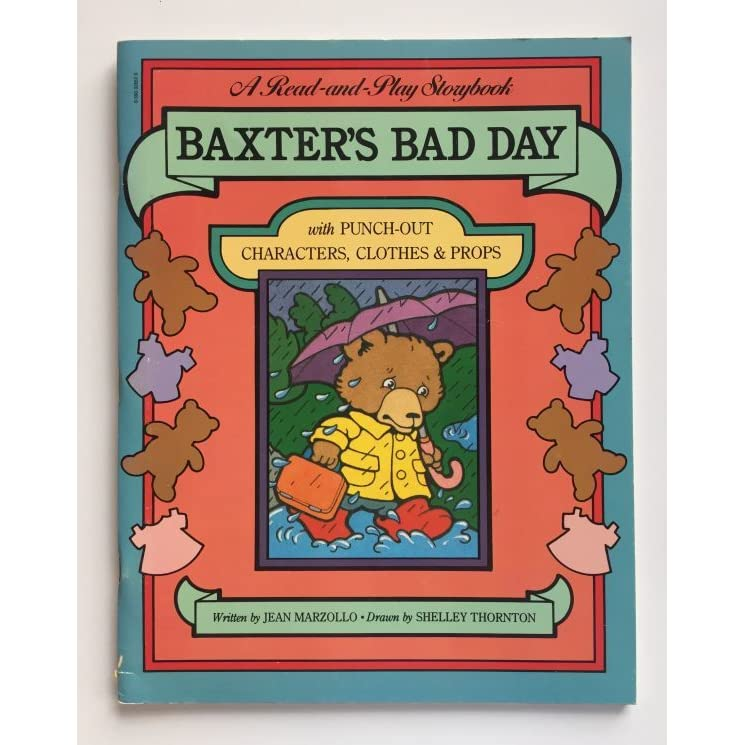 baxter cartoon character baxter's bad day: with punch-out characters, clothes & props