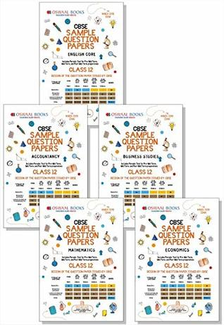 Oswaal CBSE Sample Question Papers for Class 12 (Set of 5 Books) English Core, Accountancy, Business Studies, Mathematics & Economics (For March 2019 Exam)