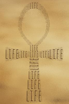 Life: Kemetic Ankh Gold Softcover Lined Writing Journal