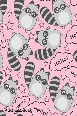 Address Book: For Contacts, Addresses, Phone, Email, Note, Emergency Contacts, Alphabetical Index with Pink Cute Baby Animal Seamless Pattern