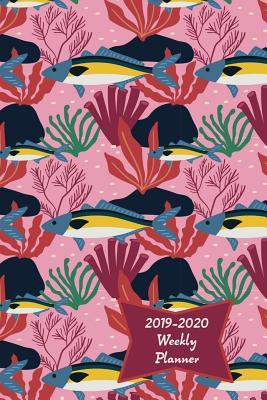 December Calendar 2020 With Goals 2019 2020 Weekly Planner: Pink Fish Academic Weekly Calendar with