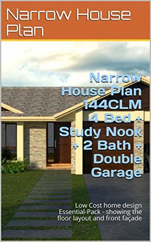 Narrow House Plan 144CLM- House Plan 4 Bed + Study Nook + 2 ... on