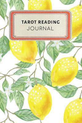 Tarot Reading Journal: Cute Yellow Lemon Tropical Dotted Grid Bullet