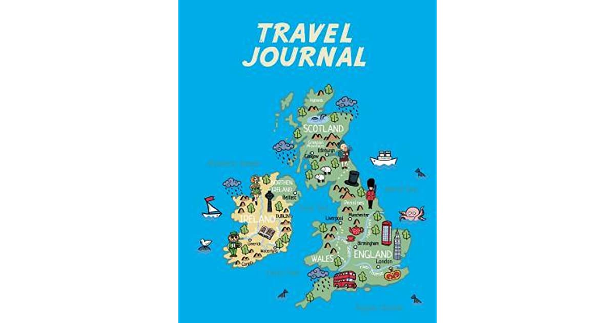 Map Of Ireland Book.Travel Journal Map Of Uk And Ireland Kid S Travel Journal Simple