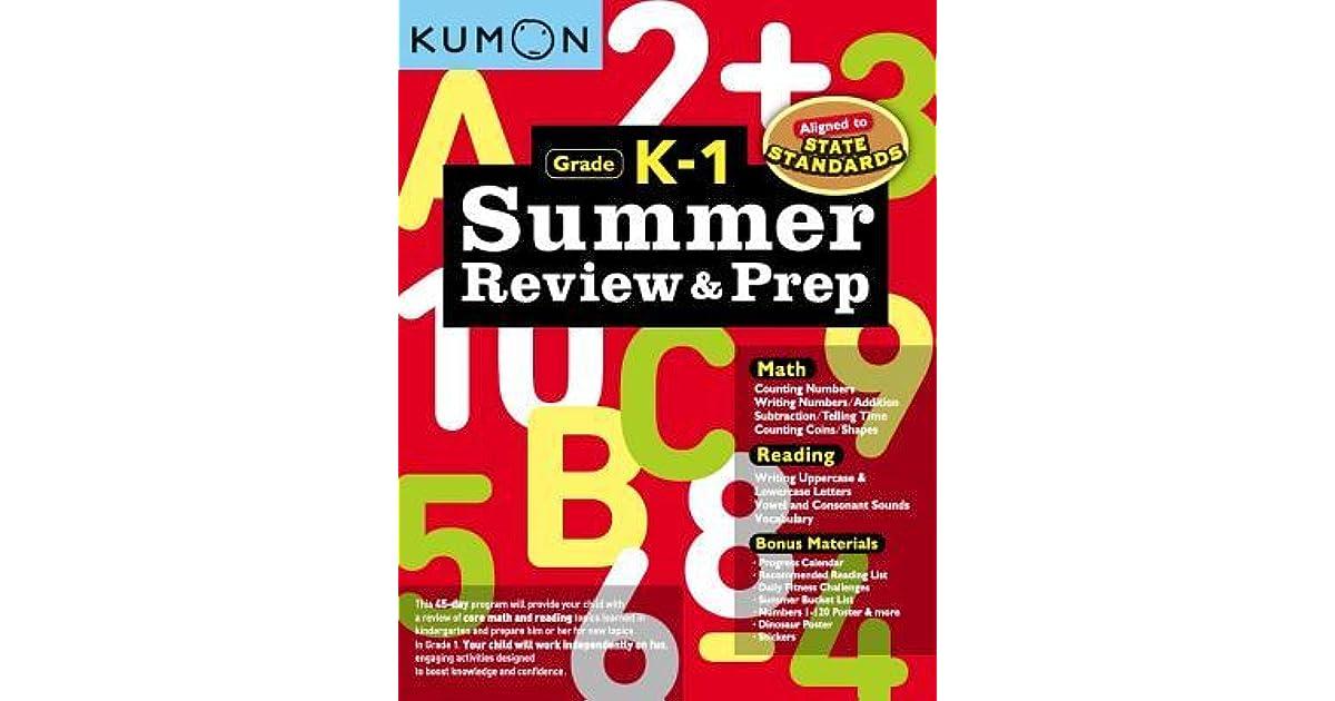 Kumon Summer Review /& Prep Workbook K-1