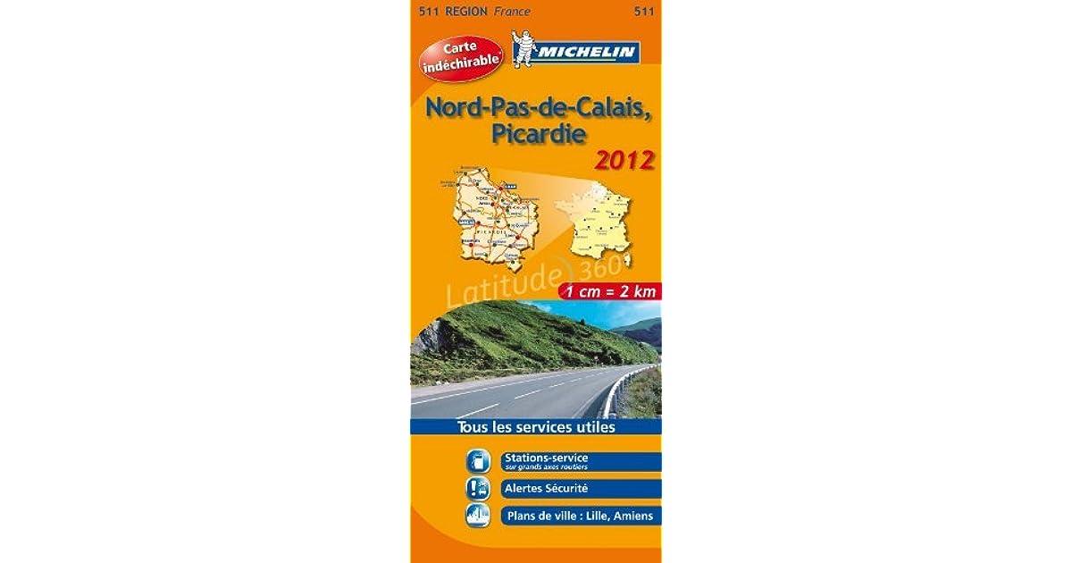 Nord Pas De Calais Picardie 17511 Carte Michelin Kaart