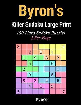 photo regarding Sudoku Printable 4 Per Page referred to as Byrons Killer Sudoku High Print: 100 Challenging Sudoku Puzzles