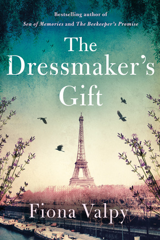 the front cover of fiona valpy's book the dressmaker's gift