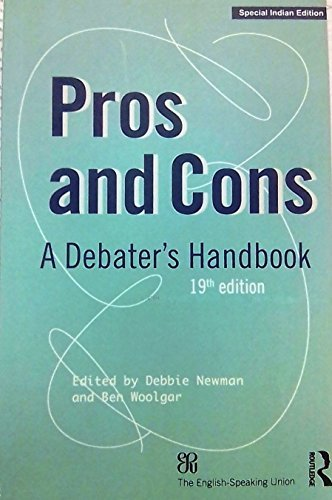 Pros and Cons A Debater Handbook 19th Edition
