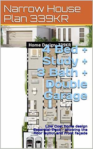 Narrow House Plan 339KR- 4 Bed + Study + 3 Bath + Double ... on house front doors, modern garage doors design, home luxury house design, front entrance design,